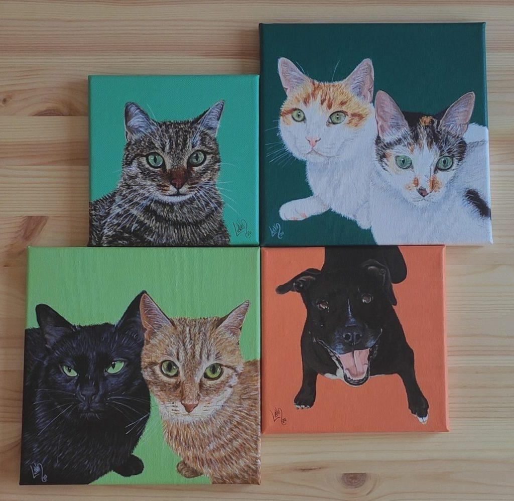 Cuadros de gatos y perros